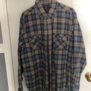 3 for $45! Lucky brand men's flannel shirt